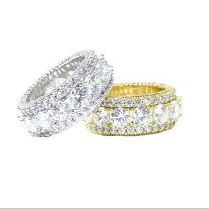 Other - Solitaire Round Lab Diamond Iced Out Eternity Ring